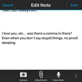 Conversation Note