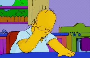 Homer facepalm