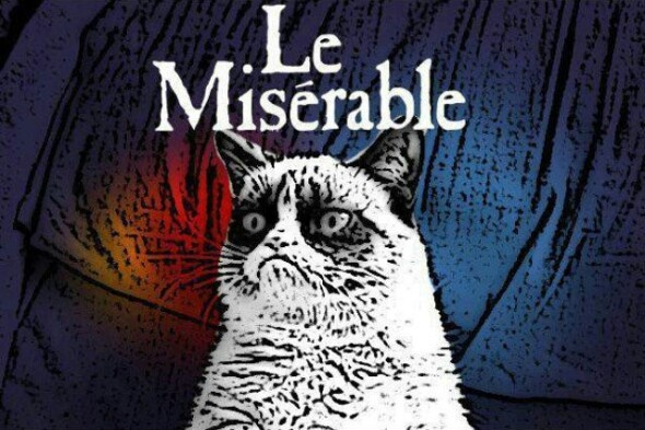 Grumpy Cat Le Misérable