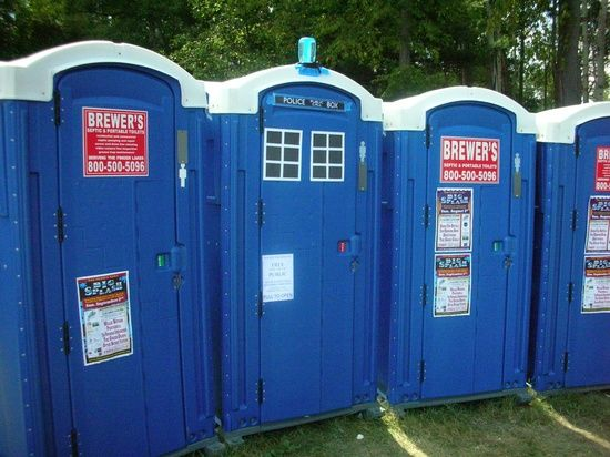 TARDIS disguised among port-a-potties