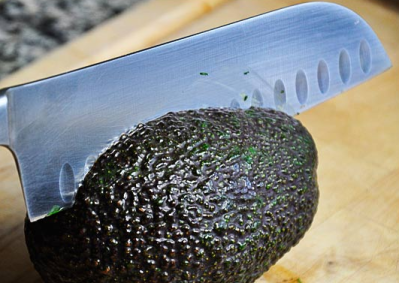 sharp knife avocado