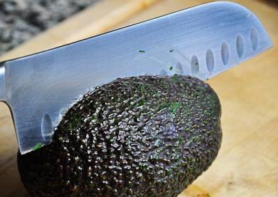sharp knife avocado
