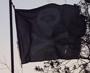 torn pirate flag