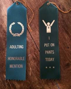 adulting honorable mention ribbon