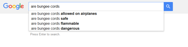 asking google, are bungee cords flammable