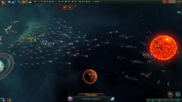 Stellaris battle screenshot