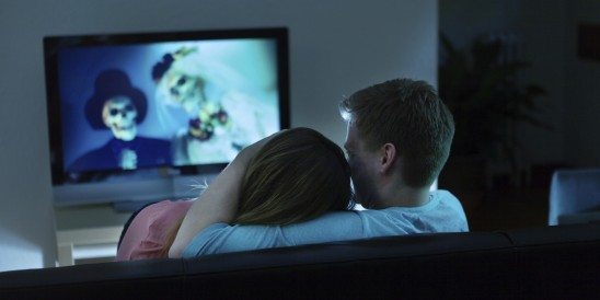 Watching horror together
