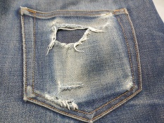 worn back pocket
