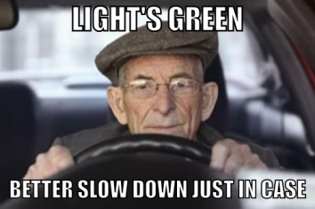 green light, slow down