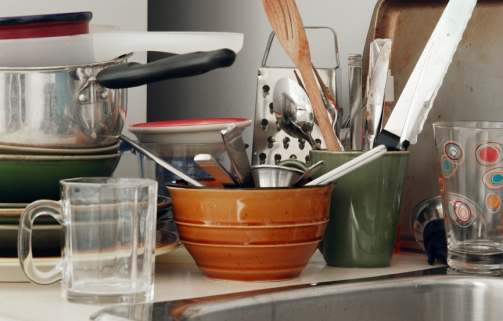 kitchen clutter