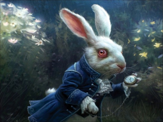 Tim Burton's White Rabbit