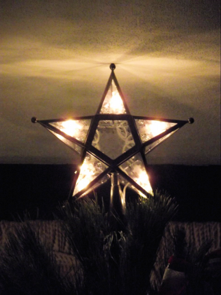 bronze and glass tree star