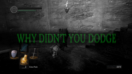 Dark Souls - why didn't you dodge?