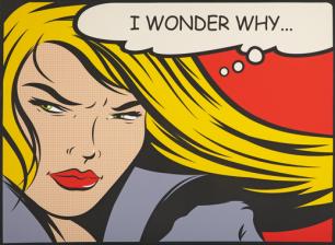 "pop-art ""I wonder why"""