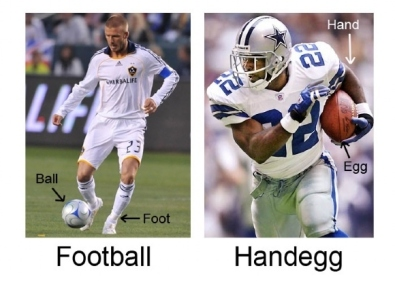 american football should be called handegg