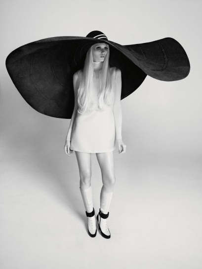 pale girl with giant hat