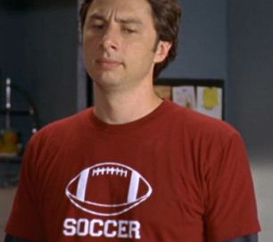 "football tshirt says ""soccer"""