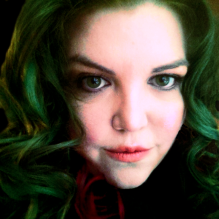 me with my red and green hair