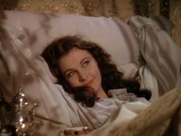 Scarlett O'Hara in bed