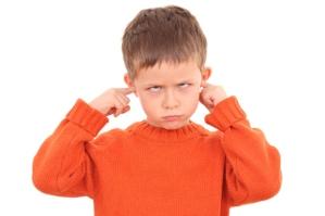 kid fingers in ears