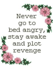 never go to bed angry, stay awake and plot revenge