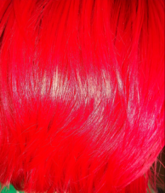 vivid pink hair
