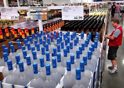 costco alcohol section