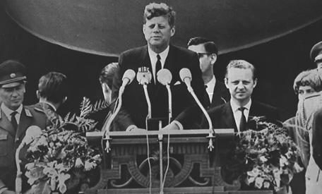 """JFK's """"ich bin ein Berliner"""" speech"""