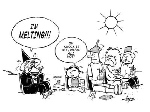 wizard of oz cast melting in summer heat