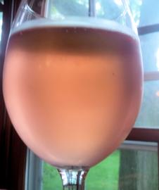 glass full of rosé
