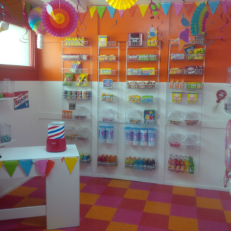 colorful candy shoppe