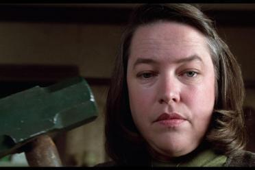 "Kathy Bates from ""Misery"" holding sledgehammer"