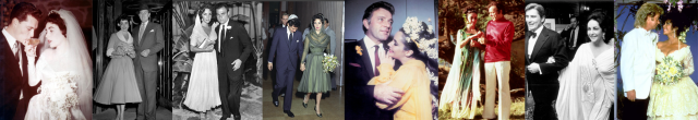 all eight of Liz Taylor's weddings