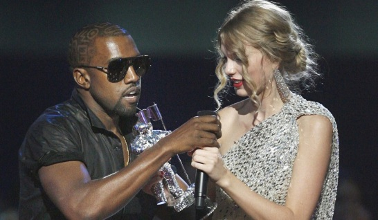 Kanye West interrupting Taylor Swift at VMA's