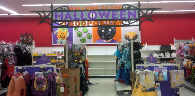Target Halloween section in progress