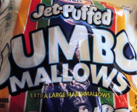 bag of Kraft jumo marshmallows