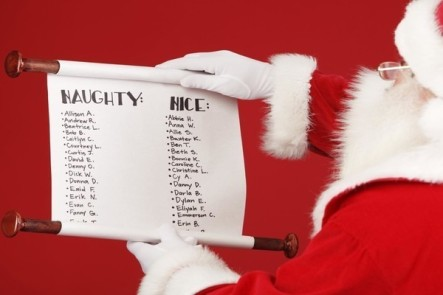 Santa's naughty or nice list