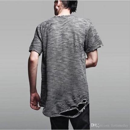 distressed men's t shirt