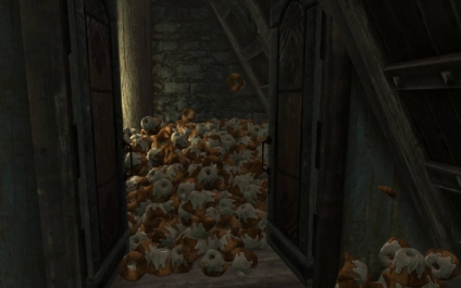 pile of sweetrolls in Skyrim home