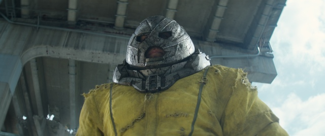 Juggernaut, a giant mutant who wears a tin helmet for paranoid reasons