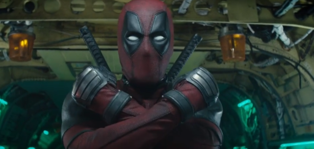 Deadpool crosses arms over chest in his X-Force salute