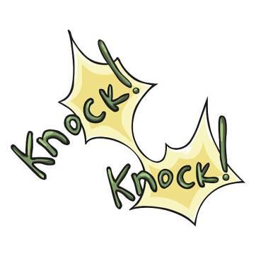 Knock! Knock! (comic-style)