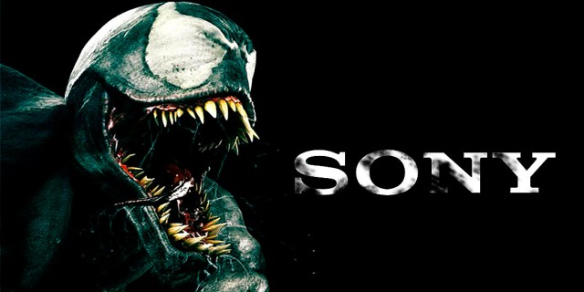 Venom snarling at Sony logo, spittle flying and tongue lashing