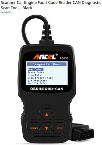 amazon sales page for car engine code reader
