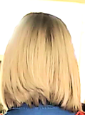 blonde a-line bob, viewed from back