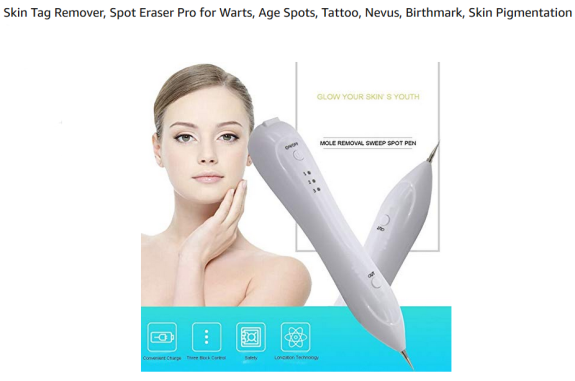 amazon sales page for skin tag/mole remover