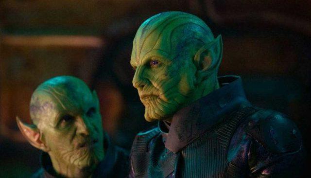 green mottled Skrulls from Captain Marvel
