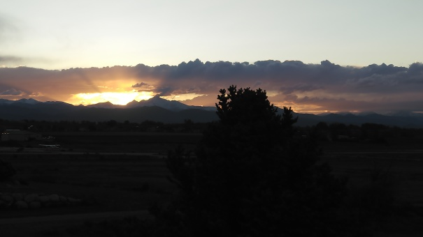 beautiful Rocky Mountain sunset view