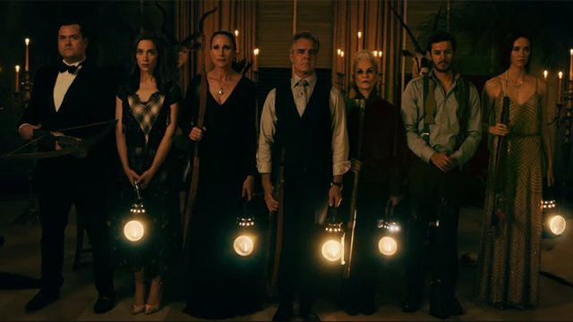 (Ready or Not) the Family gather, holding lanterns and weapons