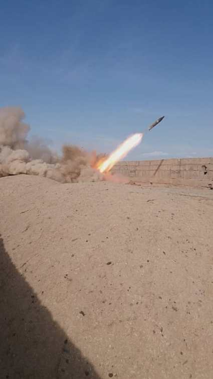 rocket launching in desert